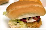 Chicken Burger with Fiesta Rice