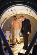 Walter Simmons and Horatio Caine in CSI Miami - 'Miami We Have A Problem' - Season 8, Episode 15.