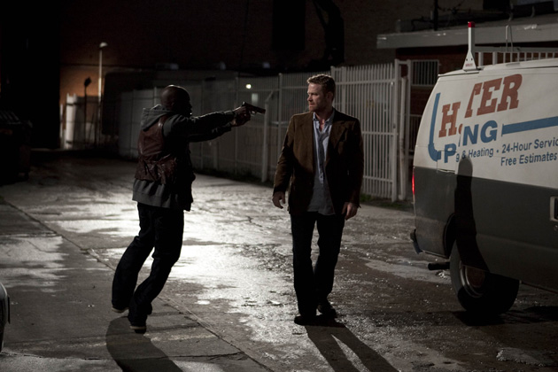 (L-R): Dave Burns (Max Martini) and Michelle Russo (Danai Gurira) in Lie To Me 'Exposed' - Season 2, Episode 20.