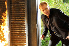 Horatio Cane in CSI: Miami - Backfire - Season 8, Ep 20 rushes to the scene of a fire in CSI: Miami - Backfire - Season 8, Episode 20.
