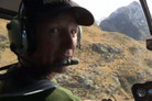 After choppering into remote hill country in search of chamois lurking along the distant snowline, Matt tries his hand at a bit of fly fishing.