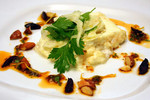 Emu Egg Omelet with Goat Cheese &amp; Almonds, Fennel Salad &amp; Harissa Vinaigrette