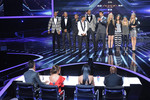 The X Factor USA contestants on stage.
