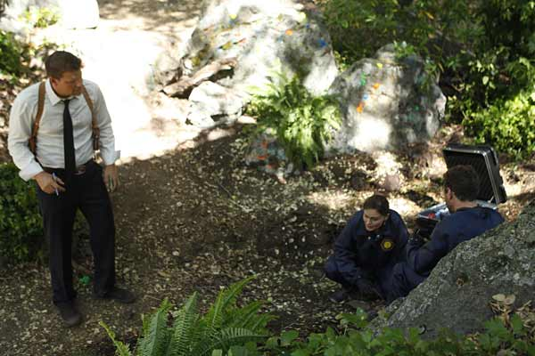 """Special Agent Seeley Booth (David Boreanaz) in """"The Memories in the Shallow Grave."""""""