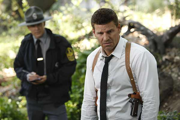 "Special Agent Seeley Booth (David Boreanaz) in ""The Memories in the Shallow Grave."""