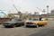 (L-R): Detective Ray Carling (Michael Imperioli), Lieutenant Gene Hunt (Harvey Keitel), Detective Chris Skelton (Jonathan Murphy) and Sam Tyler (Jason O'Mara).