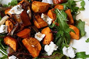 Roast Kumara and Chicken Salad