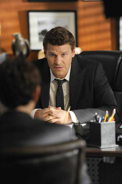 "Special Agent Seeley Booth (David Boreanaz) in ""The Pinocchio In The Planter""."
