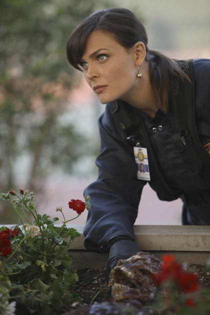 "Dr. Temperance 'Bones' Brennan (Emily Deschanel) in ""The Pinocchio In The Planter""."
