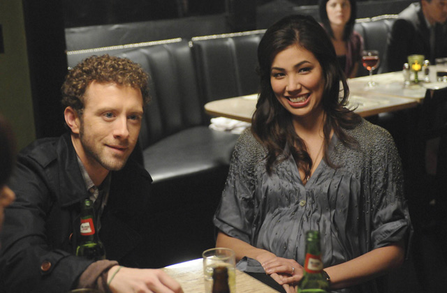 "(L-R): Dr. Jack Hodgins (T.J. Thyne) and Angela Montenegro (Michaela Conlin) in ""The Truth In The Myth""."