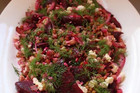 BEETROOT SALAD WITH HOT BACON DRESSING
