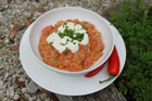 Vegetable curry with yoghurt