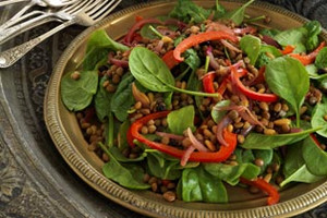 Egypt - Braised Lentil, Red Onion & Spinach Salad