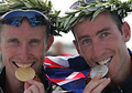 32 - Athens Olympics, Hamish Carter & Bevan Docherty Gold/Silver in Triathlon