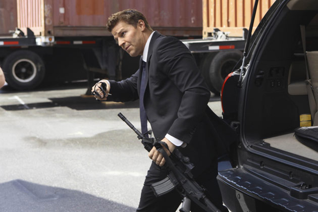 "Special Agent Seeley Booth (David Boreanaz) in ""The Hole In The Heart""."