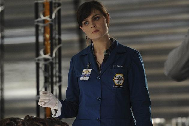 "Dr. Temperance 'Bones' Brennan (Emily Deschanel) in ""The Hole In The Heart""."