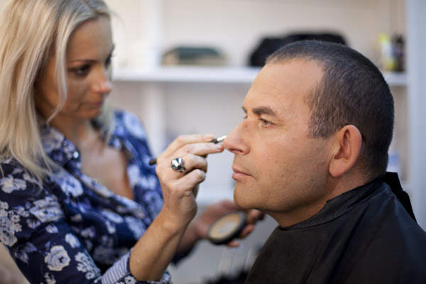 Paul in makeup