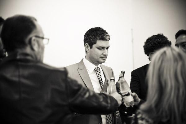 Jesse raises a glass
