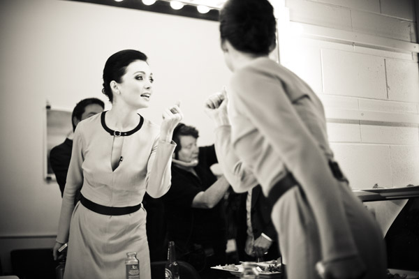 Antonia getting ready