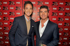 Dominic Bowden with Simon Cowell