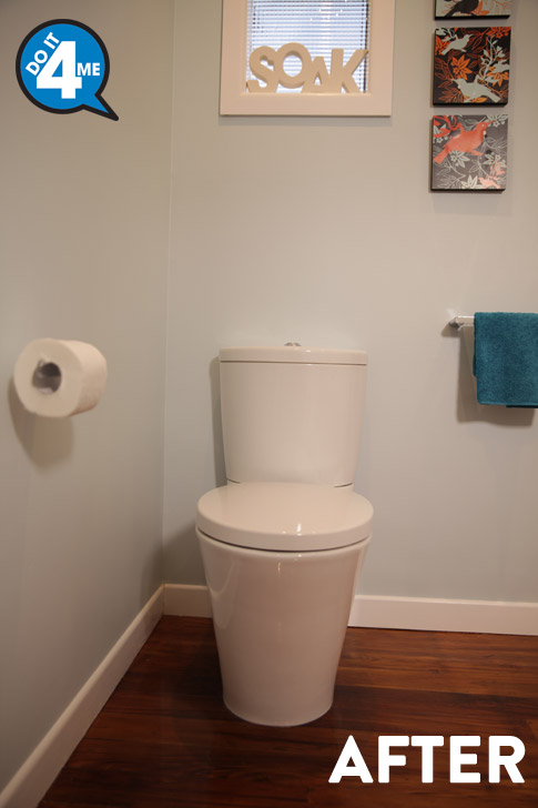 After - TOTO Santo Close Coupled toilet suite $460. $325 to have installed.