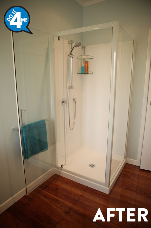 After - Paini P2 Slide Shower Chrome $155. $135 to have installed.