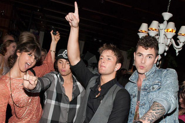 Emblem3 getting down at the X Factor Top 12 party