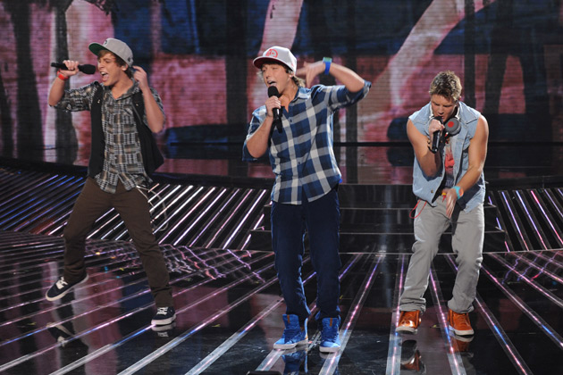 "Emblem3 performs an innovative mashup of Temptation's ""My Girl,"" Katy Perry's ""California Gurls,"" and One Direction's ""What Makes You Beautiful."""