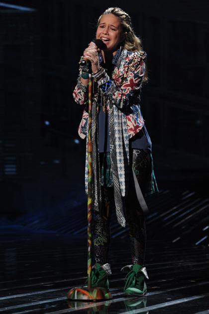 "Beatrice Miller performs the Goo Goo Dolls' ""Iris."""