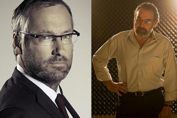 Jeremy's silver fox 'Ned Flanders' mo, or Homeland's Saul Berenson's full mo? WINNER = JEREMY.