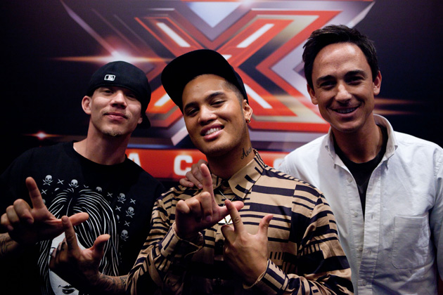 Stan Walker hanging out with Chris Rene and Dominic Bowden at New Season Launch