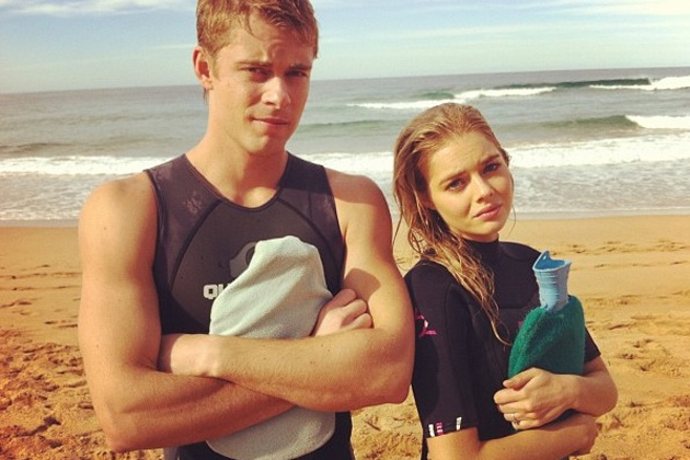 Behind the scenes with Luke Mitchell and Samara Weaving