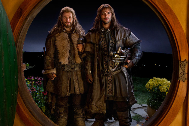 Dean O'Gorman and Aiden Turner in The Hobbit