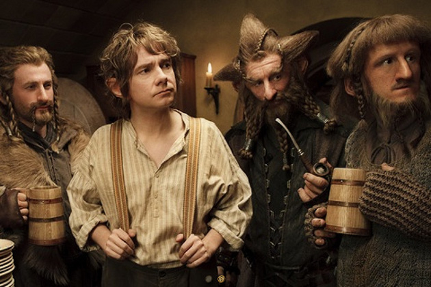 Dean O'Gorman (left) as Fili the Dwarf in The Hobbit