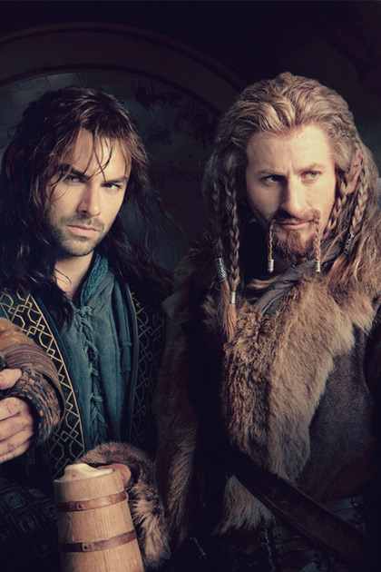 Dean O'Gorman rocking braids and beard as Fili in The Hobbit