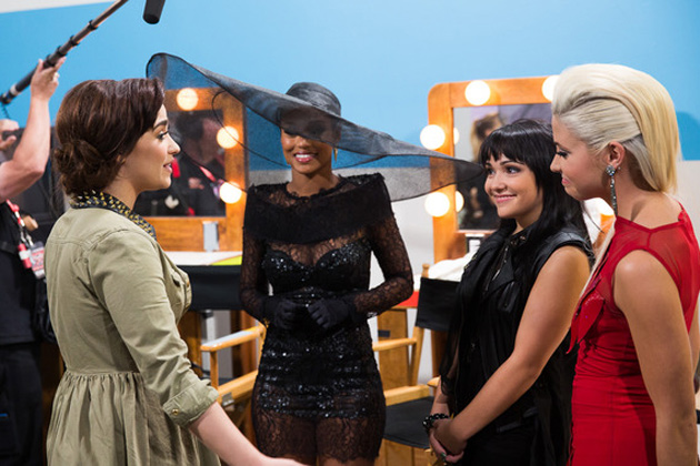 Demi Lovato, Paige Thomas, Jennel Garcia, and CeCe Frey
