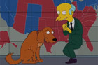 Mr Burns votes Mitt Romney in Elections