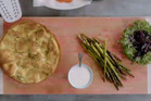 On the menu this week is smoked salmon, Yorkshire pud, beets and asparagus, plus gorgeous Greek chicken, sweet pepper and pea couscous with tzatziki.