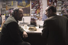 Saul meets with Dar Adal, the agent who's running Quinn's bonus operation.