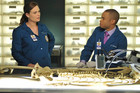 A scene from Bones - The Male In The Mail - Season 7, Episode 4.