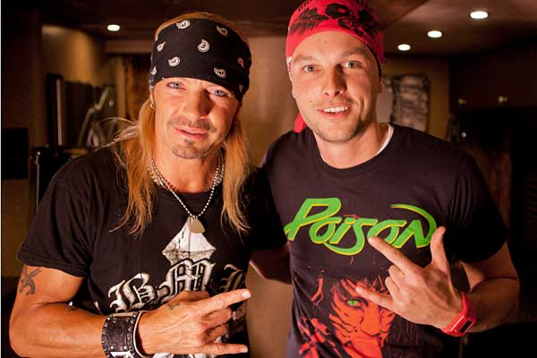 Rocking the bandana with Bret Michaels