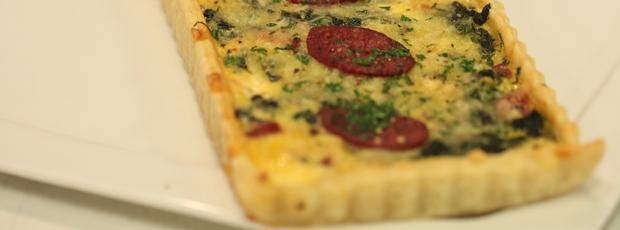 Hayley's Chorizo, Feta & Spinach Pie