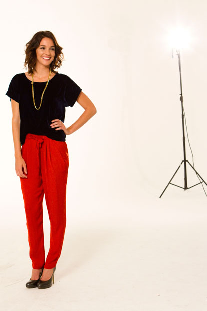 Shannon Ryan's model pose