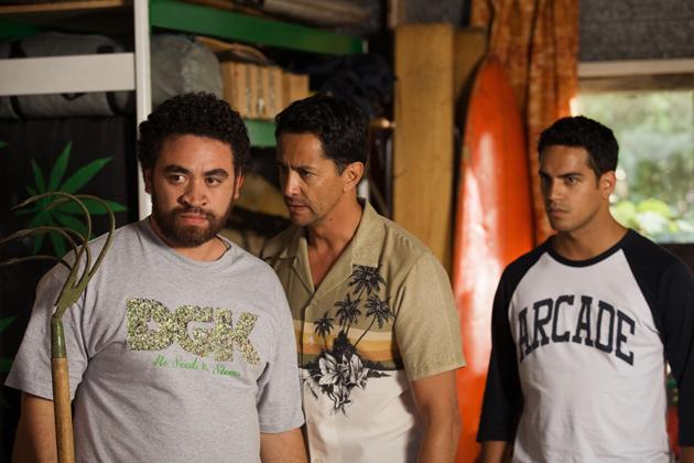 Leon (Tainui Tukiwaho), George (Kirk Torrance) and Jerome (Matariki Whatarau).