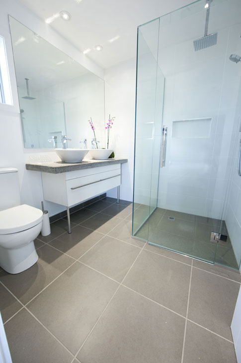The new ensuite