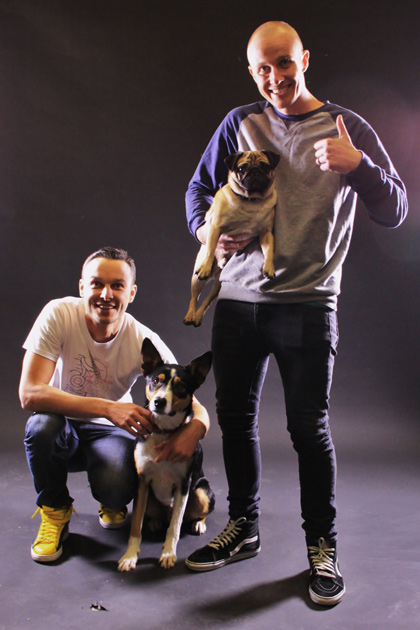 Jono and Ben at Ten. It's gone to the dogs already.