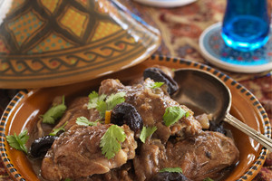 Chicken, Preserved Lemon & Prune Tagine