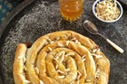 Almond-filled Filo Snake (Mhancha)