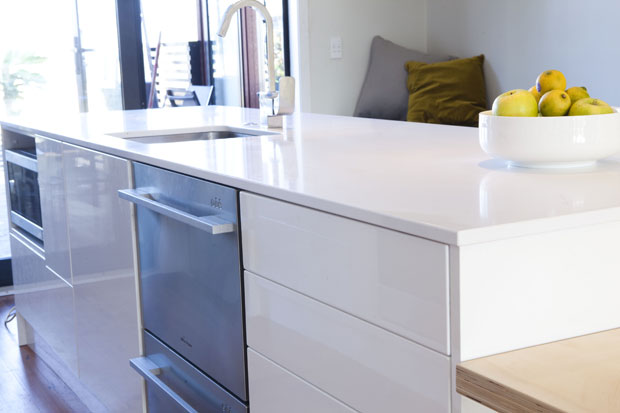 The handle-less cabinets