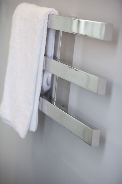 Fancy new towel rack for the ensuite